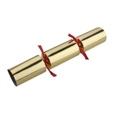 Fiesta Christmas Crackers Red and Gold 9""