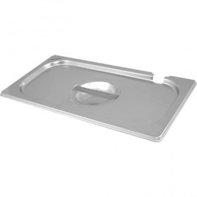 Vogue Notched Stainless Steel Gastronorm Lid - 2/3