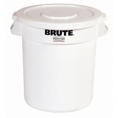 Round Brute White Container