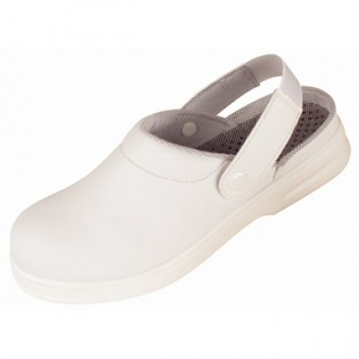 White Unisex Safety Clogs