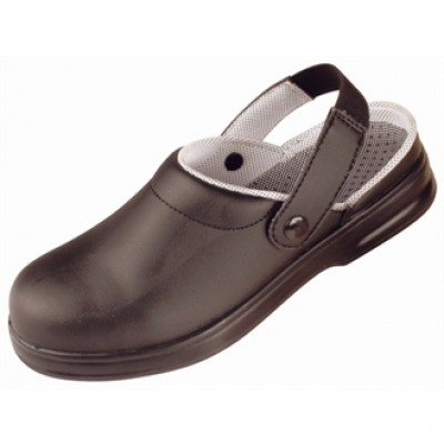 Black Unisex Safety Clogs