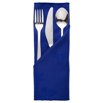 Roslin Woven Rose Royal Blue Napkin 22""