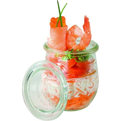 APS Lidded Glass Display Jar 8oz