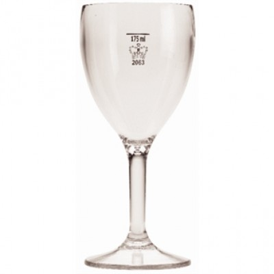 Polycarbonate Wine Glass CE Marked at 175ml