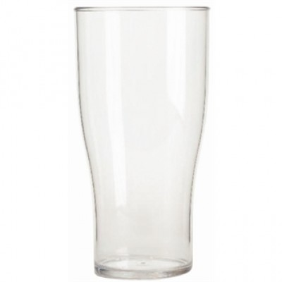 Polycarbonate Nucleated Beer Glass 285ml CE Marked