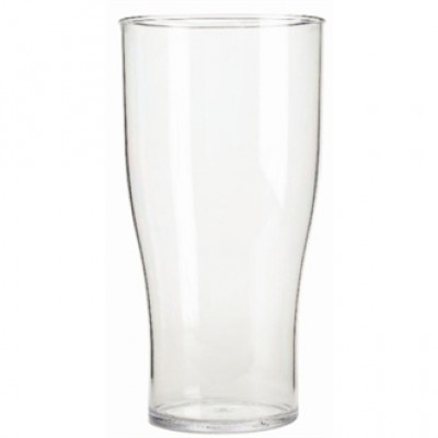 Polycarbonate Nucleated Beer Glass 570ml CE Marked