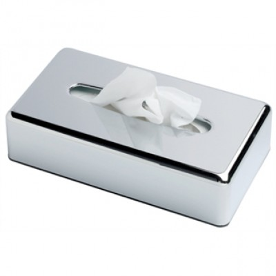 Chrome Rectangular Tissue Holder