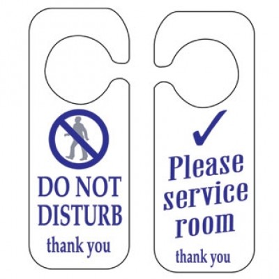 Do Not Disturb & Please Service Room Sign