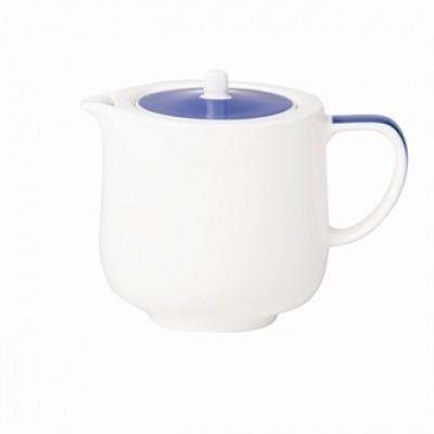 Royal Porcelain Maxadura Edge Blue Lid Beverage Pot