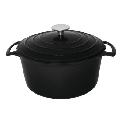 Vogue Round Black Casserole Dish