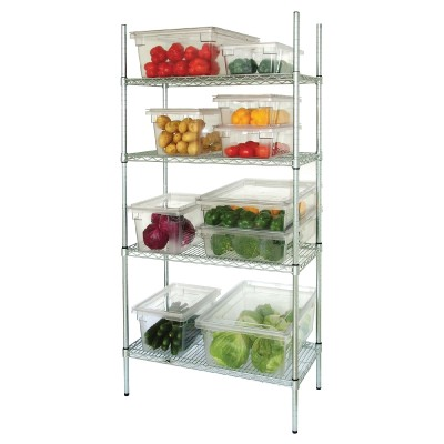 4 Tier Wire Shelving Kit. 457mm (18'') depth.
