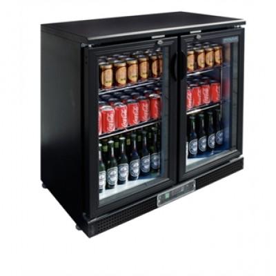 Polar GL003 Sliding Door Bottle Fridge  - Black