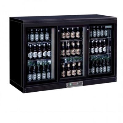 GL006 Polar Sliding Door Bottle Fridge  - Black