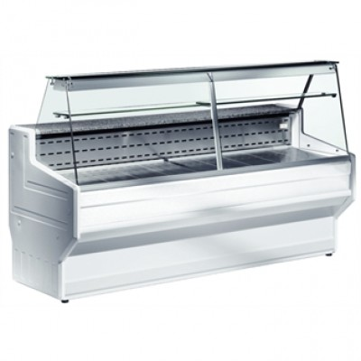 DE820-250 Zoin Hill Slimline Deli Serve Over Counter Chiller - White