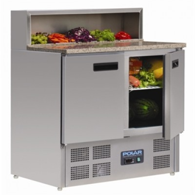 Polar G603 Refrigerated Prep Counter - Stainless Steel