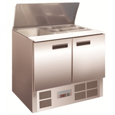 Polar G606 Refrigerated Saladette Counter - Stainless Steel