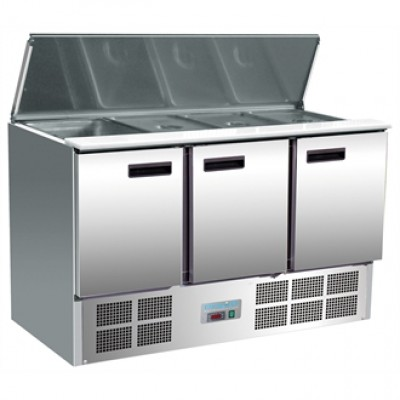 Polar G607 Refrigerated Saladette Counter - Stainless Steel