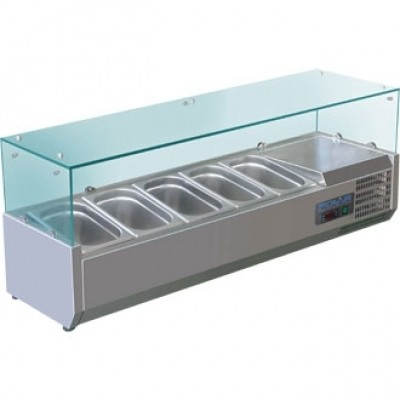 Polar G608 Counter Top Fridge Prep Unit - Stainless Steel