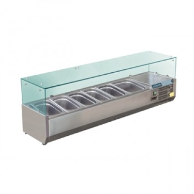 Polar GD876 Refrigerated Servery Topper - Stainless Steel