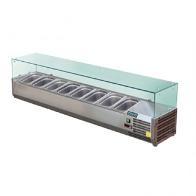 Polar GD877 Refrigerated Servery Topper - Stainless Steel