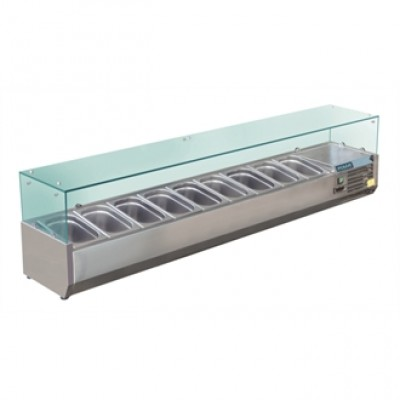 Polar GD878 Refrigerated Servery Topper - Stainless Steel