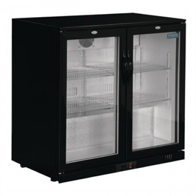 Polar GL012 Reduced Height, Hinged Door Bottle Cooler