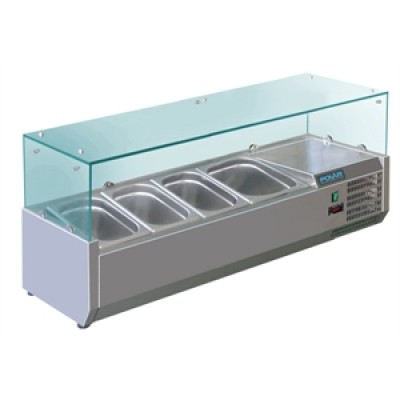 Polar GD875 Refrigerated Servery Topper - Stainless Steel