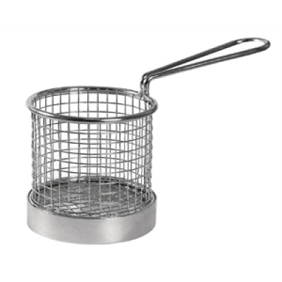 Olympia Chip Presentation Basket with Handle 95mm