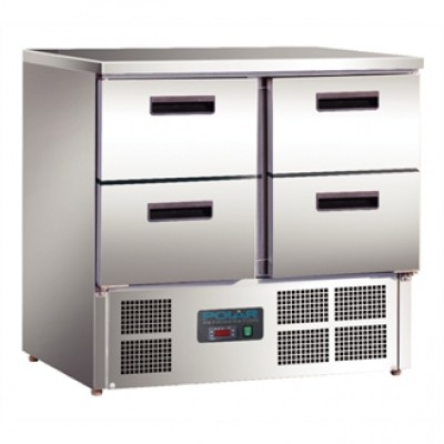 Polar U638 Compact Counter Fridge - Stainless Steel