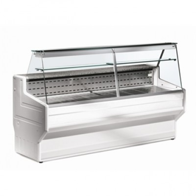 DE820-300 Zoin Hill Slimline Deli Serve Over Counter Chiller - White