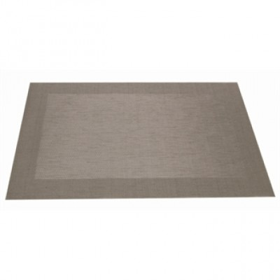 Woven PVC Silver Table Mat