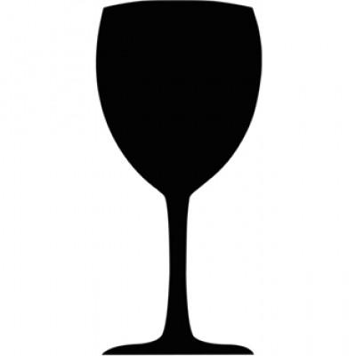 Securit Wine Glass Chalkboard