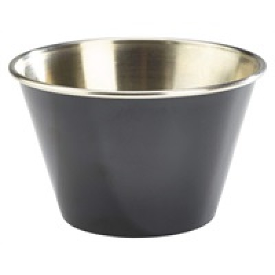 GenWare 6oz Stainless Steel Ramekin Black