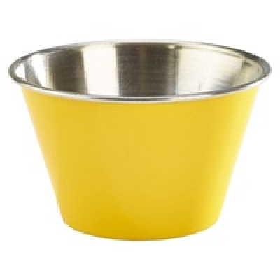 GenWare 6oz Stainless Steel Ramekin Yellow