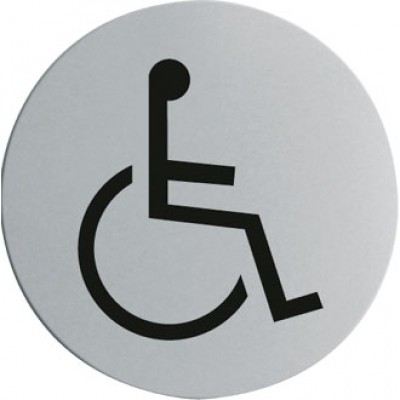 Stainless Steel Door Sign - Disabled
