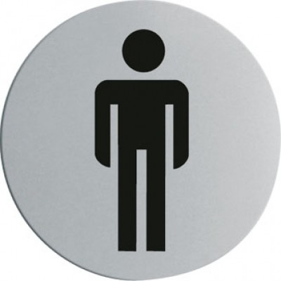 Stainless Steel Door Sign - Gentlemen