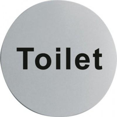 Stainless Steel Door Sign - Toilet