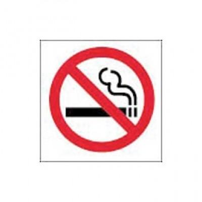 No Smoking Symbol Window Sign