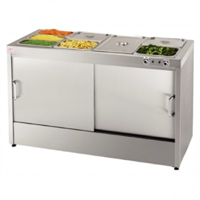 Buffalo G086 Hot Cupboard with Bain Marie Top