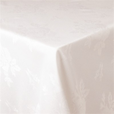 Roslin Woven Rose White Tablecloth