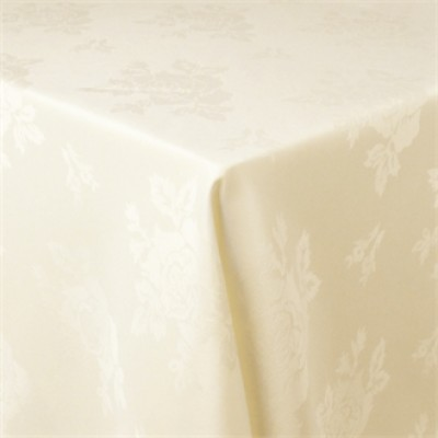 Roslin Woven Rose Ivory Tablecloth