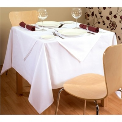 Palmar Polyester White Tablecloth