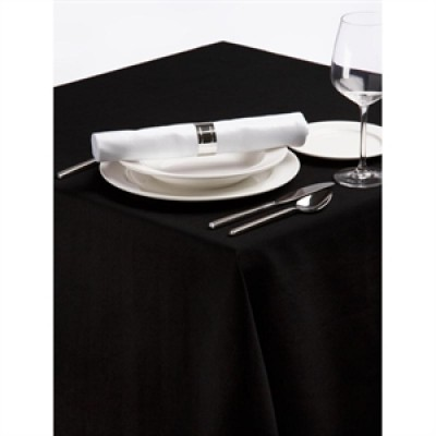Palmar Polyester Black Tablecloth