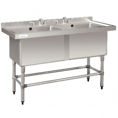 Vogue Double Deep Pot Sink - 1410 x 600