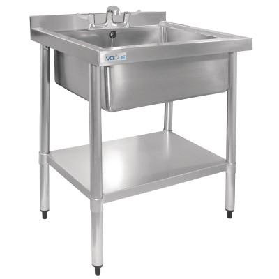 Vogue Stainless Steel Midi Pot Wash Sink with Undershelf