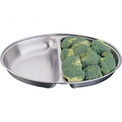 Oval Vegetable Dish - Two Division