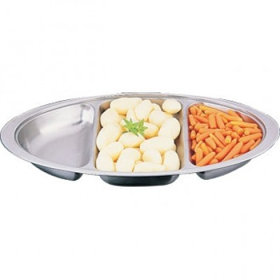 Oval Banqueting Dish - Three Division