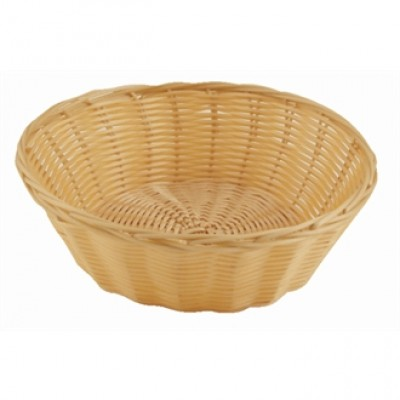 Poly Wicker Round Food Basket