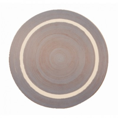 Round Blue Casual Dining Mat