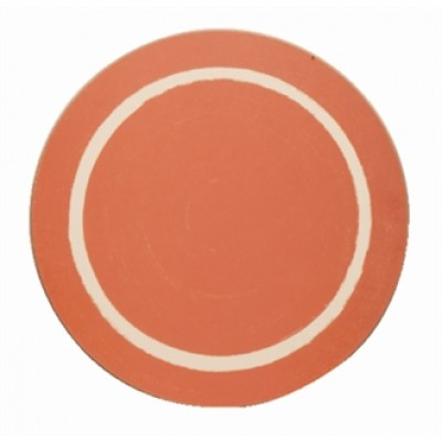 Round Red Casual Dining Mat